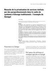Réussite de la privatisation de services réalisés par des paraprofessionnels dans le cadre de systèmes d'élevage traditionnels  l'exemple du Sénégal.pdf