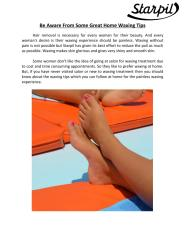 Be Aware From Some Great Home Waxing Tips .pdf