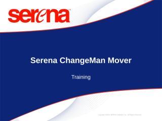 serena mover presentation.ppt