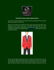 The Red Suit For Mens To Make A Bolder Statement .pdf